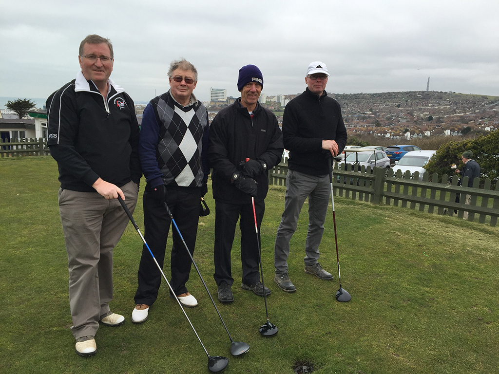 Tim Gorringe, new member James Gallifant , Chris Buck and Paul Hillman get ready