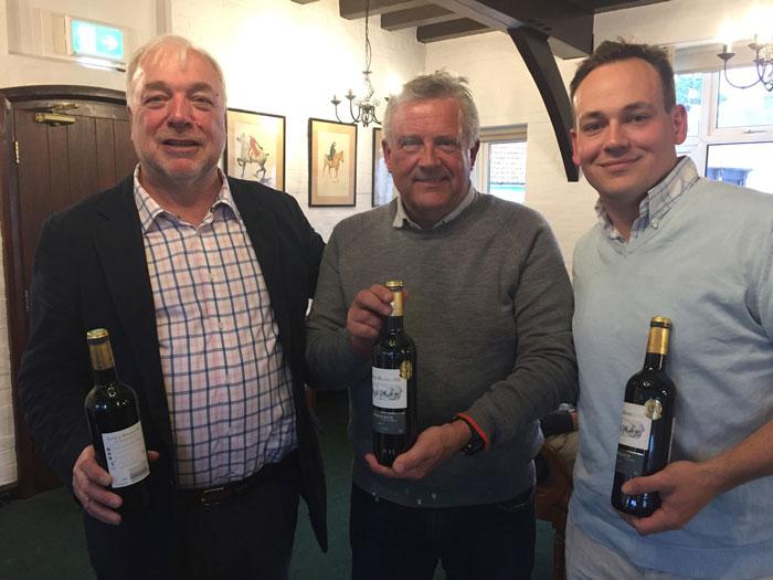 Team Winners: John (Derek) Colingwood, Mark Hughes and Andrew Burnett