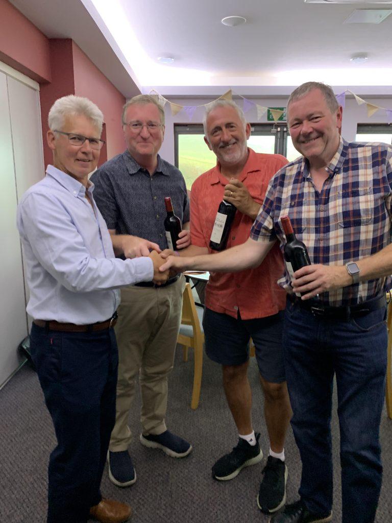 Team Stableford winners: Tim Gorringe, Ashley Head and Andy Tippett